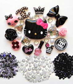 DIY Hello Kitty Bling Bling Flatback Resin Cabochons by lilysu, $16.99    I USED TO LOVE HELLO KITTY WHEN I WAS YOUNGER