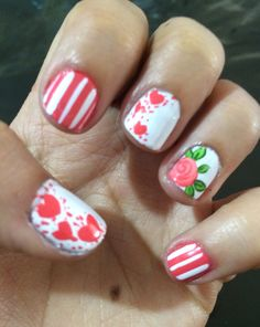 Cute and Easy Valentine Day Nails Acrylic Art Designs Ideas with Red Hearts Acrylic Art, Acrylic Nails, Valentine's Day Nail Designs, Nail Inspo, Red Hearts, You Nailed It, Hair And Nails, Valentines Day, Simple