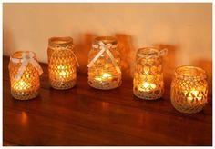 23 HandMade Dekoracyjny ŚWIECZNIK Lampion Wazonik LEN Latarenka Tealight – Sztum – 157390058   Gumtree
