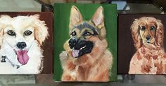 Dog portraits #handmade #dogs #art #painting #germansheperd