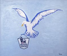 AN artist has taken to canvas to celebrate Brighton and Hove Albion's promotion to the Premier League.
