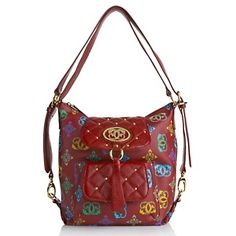 Sharif Signature Print 4 In 1 Bag With Leather Trim At Hsn