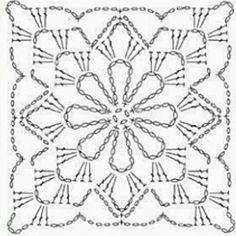 Motifs Granny Square, Granny Square Crochet Pattern, Crochet Blocks, Crochet Diagram, Freeform Crochet, Crochet Art, Crochet Squares, Crochet Home, Love Crochet