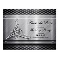 #Corporate Business Holiday Party Save The Date Postcard - #savethedate #wedding #love #card #cards #invite #invitation