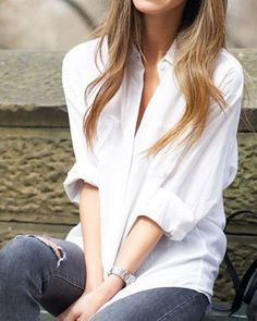 Casual Shirt Collar Loose-Fitting Long Sleeves Shirt For Women
