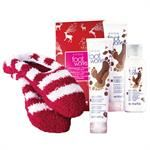 Foot Works Pomegranate Chocolate Collection 4-Piece Gift Set