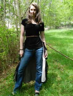 Another interesting layering idea    Steampunk Victorian Overskirt Ruffles and Lace. $85.00, via Etsy.
