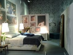 Fiji is a bed with an #Artdéco design, features a high quilted #headboard.