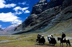 Mt. Kailash, Himalayas, Tibet - This Himalayan mountain may not be the globe's highest point, but many religions revere it as the meeting place of heaven and Earth. Each year, thousands pilgrimage through the remote villages of Tibet's High Plateau and around Mt. Kailash. A holy ritual, the trek at the edge of heaven is said to bring good fortune, and many travelers call the encounter life changing.