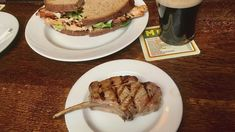 The Guinea Grill, 30 Bruton Place, Mayfair, London Mayfair London, Lamb Chops, Pints, Guinness, Grilling, Bacon, Sandwiches, Beef, Chicken