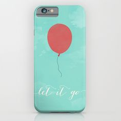 LET+IT+GO+-+RED+BALLOON+iPhone+&+iPod+Case+by+Allyson+Johnson+-+$35.00