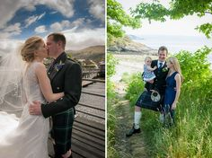 Two loch side wedding venues in Scotland from recent Wedding Photography. Featuring The Lodge On Loch Lomond and Knockderry Country House Hotel