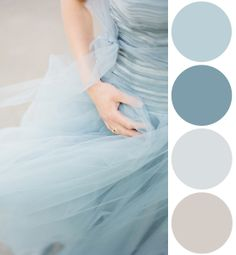 Color Palette Inspiration: Icy Blue Chiffon Can we use this as the curtain inspiration to your Walk in Closet?