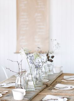 Simple natural table setting.