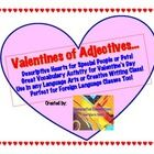 Festive Valentine's Day Activity using adjectives and building  vocabulary by learning new and vivid adjectives for descriptive writingPerfect fo...$