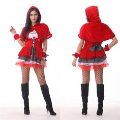 New Red Riding Hood Role Play Clothes Halloween Cosplay Stage Costumes Hallowmas Cos Costume Make Up Party Dress B-3444