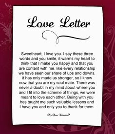 Love Letter For my love <3