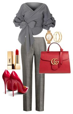 """""""Untitled #299"""" by tjwstyleconsultant on Polyvore featuring Christian Louboutin, Michael Kors, Charlotte Russe, Gucci and Yves Saint Laurent"""