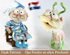 058Nl Grandpa Feodor and alien by LittleOwlsHutNL on Etsy