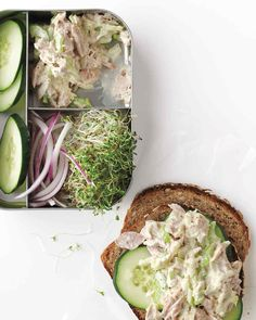 This tuna salad gets its bright flavor from two good-for-you ingredients: Greek yogurt and shredded apple.