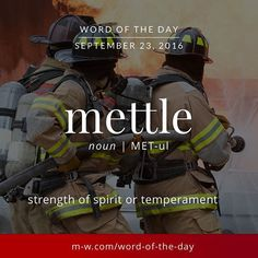 One more #wordofyesterday. Mettle! #merriamwebster #dictionary #language