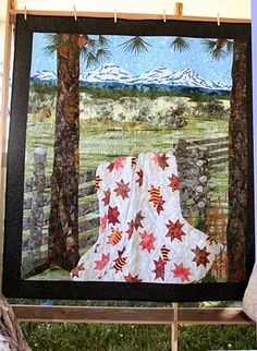 Admiration for the quilter that created this beautiful quilt!