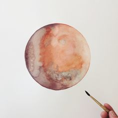 "mars  by stella maria baer 18 x 24"" watercolor on paper www.stellamariabaer.com"