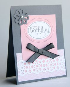 Elegant Birthday Card  - Stampin' Up! www.elainescreations.blogspot.com