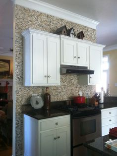Tiled Backsplash, Tiled kitchen wall