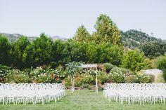 Beautiful California ceremony: http://www.stylemepretty.com/california-weddings/calistoga/2015/05/21/romantic-garden-inspired-calistoga-wedding/ | Photography: One Love Photo - http://onelovephoto.com/