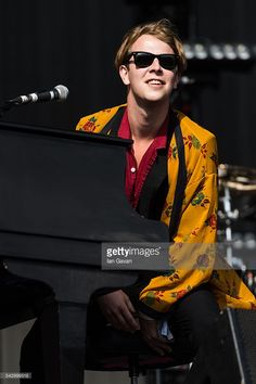 Tom Odell performs on The Other Stage on day 2 of the Glastonbury Festival at…