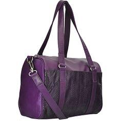 Dan W Voyager Satchel Purple - Dan W Leather Handbags