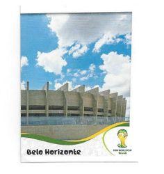 FIFA WM 2014 World Cup Brasil Panini Sticker Nr. 9  rechter Teil  des Stadion