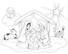 spanish coloring page for Ruth Easy Christmas Drawings, Christmas Artwork, Christmas Images, Christmas Colors, Christmas Themes, Christmas Bible, Christmas Crafts For Kids, Christmas Fun, Christmas Activities
