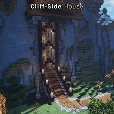 Casa Medieval Minecraft, Art Minecraft, Minecraft Structures, Minecraft Mansion, Minecraft Cottage, Minecraft House Tutorials, Minecraft Castle, Cute Minecraft Houses, Minecraft Plans