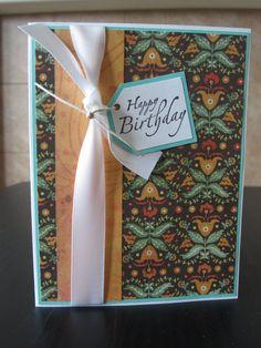 Happy Birthday handmade greeting card 001B