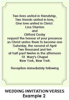Wedding invitation wording that reflects the central role Christ plays in our wedding/marriage ♥