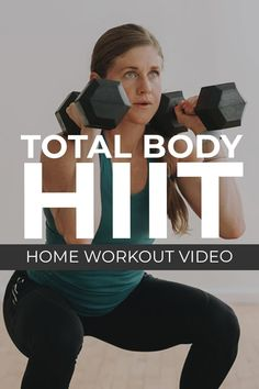 Your new favorite workout format is the SUPERSET WORKOUT! This full body workout combines two circuits of upper body and lower body exercises in a SUPERSET format, which is great for building muscle using weights you have at home, like dumbbells! Follow along as trainer Lindsey coaches you through these 8 dumbbell HIIT exercises in a 30 minutes full body burn! Interval Training Workouts, Endurance Workout, Dumbbell Workout, High Intensity Interval Training, Hiit, Cardiovascular Endurance Exercises, Squats Muscles Worked, Body Exercises, Body Workouts