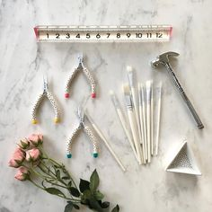DIY supplies and desk swag! Because every single item you look at should be beautiful.