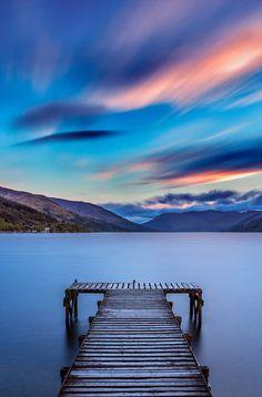 Sunset at Loch Earn, Scotland