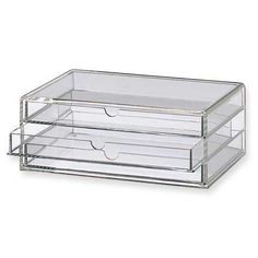 Acrylic Cases. Great for makeup and jewelry.