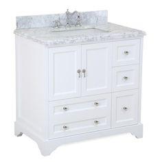 Madison 36-inch Vanity (Carrara/White)