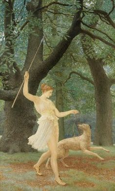 Henry Holiday - Diana or Artemis, Queen and Huntress, Chaste and Fair (Diana)