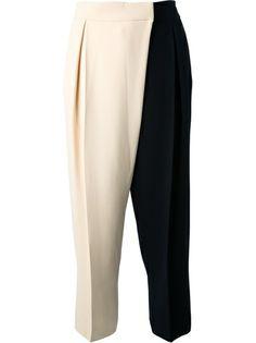 Chloè bi-colour cropped trousers