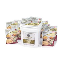 Emergency Survival Food Storage. Legacy Premium's 60 serving Entrée Bucket is the simplest way to get started with an emergency food supply or to complement an existing food supply.  #tgpiratesurvival