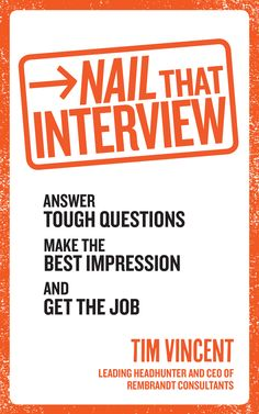 The secrets to successful interviews from a top recruitment consultant . With the jobs market more competitive than ever, how do you make sure you stand out from the crowd? In this game-changing new b Tough Interview Questions, Interview Answers, Job Interview Tips, Interview Preparation, Behavioral Interview, Job Info, Step Program, Marketing Jobs, Book Summaries