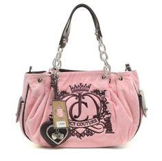 I heart Juicy Couture Purple Handbags, Black Handbags, Leather Handbags, Pink Fashion, Fashion Bags, Colorful Fashion, Juicy Couture Sweatsuit, Rosa Style, Juicy Couture Handbags