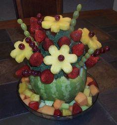 Mélon, ananas et fraises