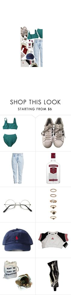 """how do you get this gold sh-t off?"" by tiredpoet ❤ liked on Polyvore featuring adidas, H&M, Forever 21, Polo Ralph Lauren, Aesop and Diane Von Furstenberg"