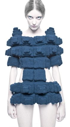 Challenging our approach to the form of the figure - 01.10.11 Power of Making @ V&A Sandra Backlund knitted dress